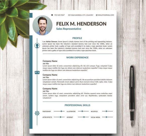 CV/Resume Modern Template For Word