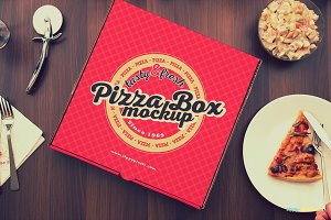 15 Yummy Pizza Box Mockups