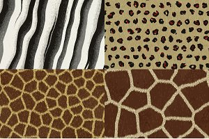 Vector animal fur textures