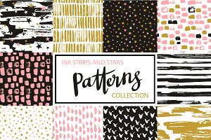 "Hipster patterns ""Stars and ink"""