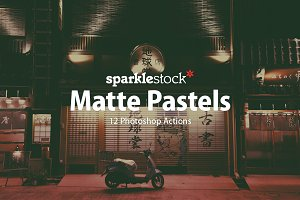 12 Matte Pastel Photoshop Actions