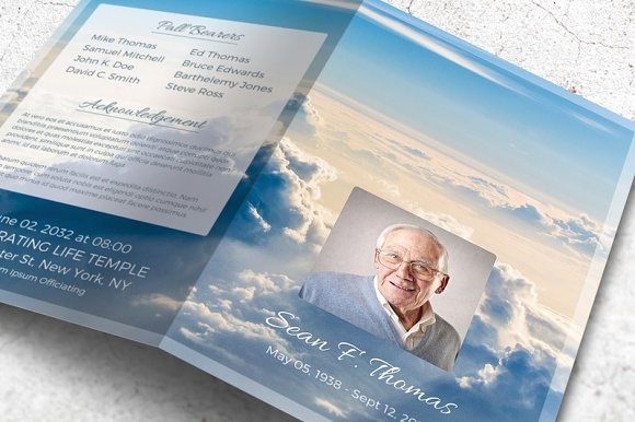 memorial brochure templates free - funeral program brochure heaven brochure templates on