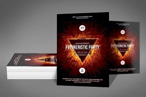 Bright Abstract Flyer Psd Template