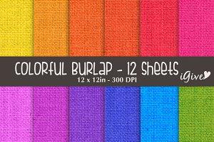 Colorful Burlap