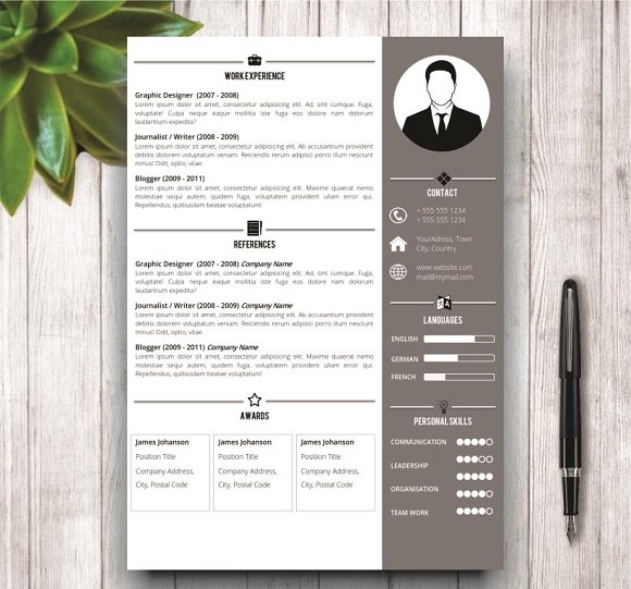 Simple Resume Template in MS Word in Resume Templates - product preview 2