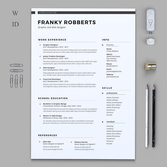 prime resume resume templates creative market