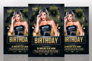 Birthday Flyers Template