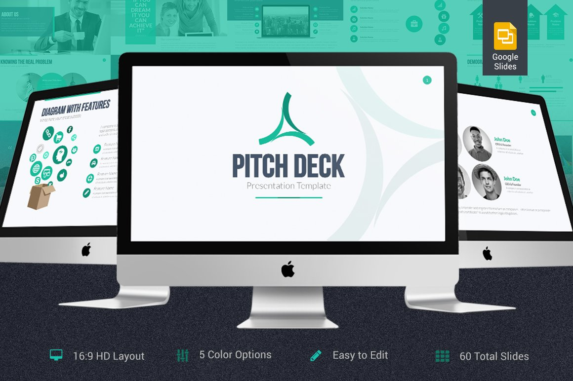 pitch deck google slides template presentation templates