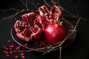 Ripe juicy pomegranate