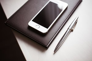 iPhone, Diary and Pen