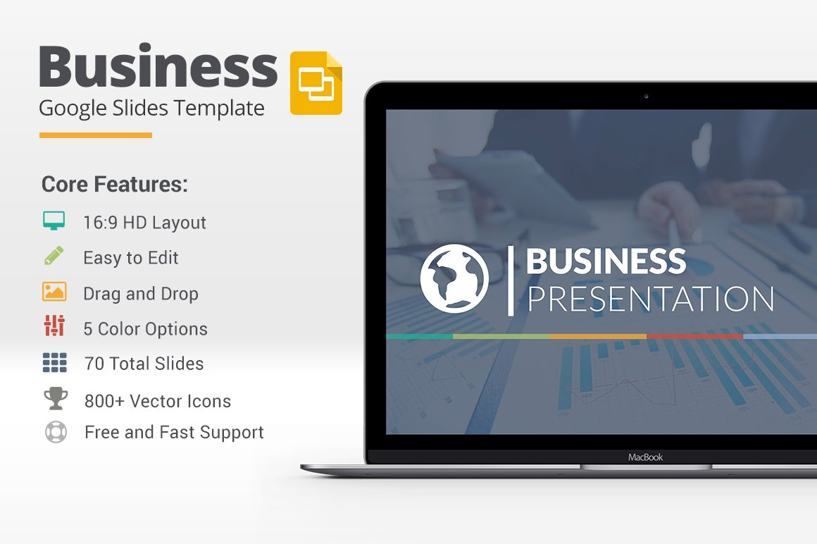Business google slides template presentation templates creative business google slides template presentation templates creative market wajeb Images