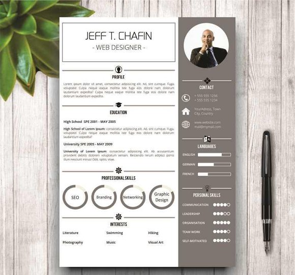 simple resume template in ms word resume templates creative market