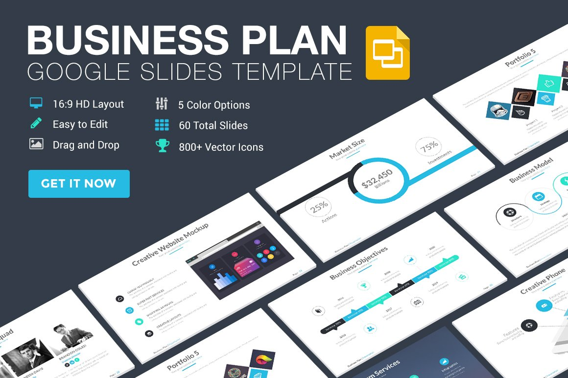 Business plan google slides template presentation templates business plan google slides template presentation templates creative market cheaphphosting Choice Image