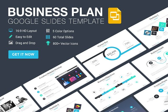 Business Plan Google Slides Template Presentation Templates - Google business plan template