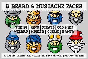 Beard & Mustache Faces Pack
