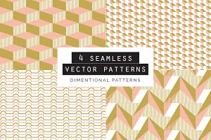Dimentional Seamless Patterns 4