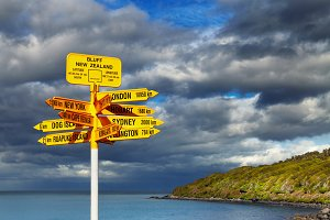 Signpost in the Stirling Point