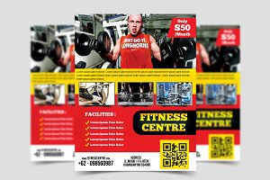 Fitness Center Flyer Template