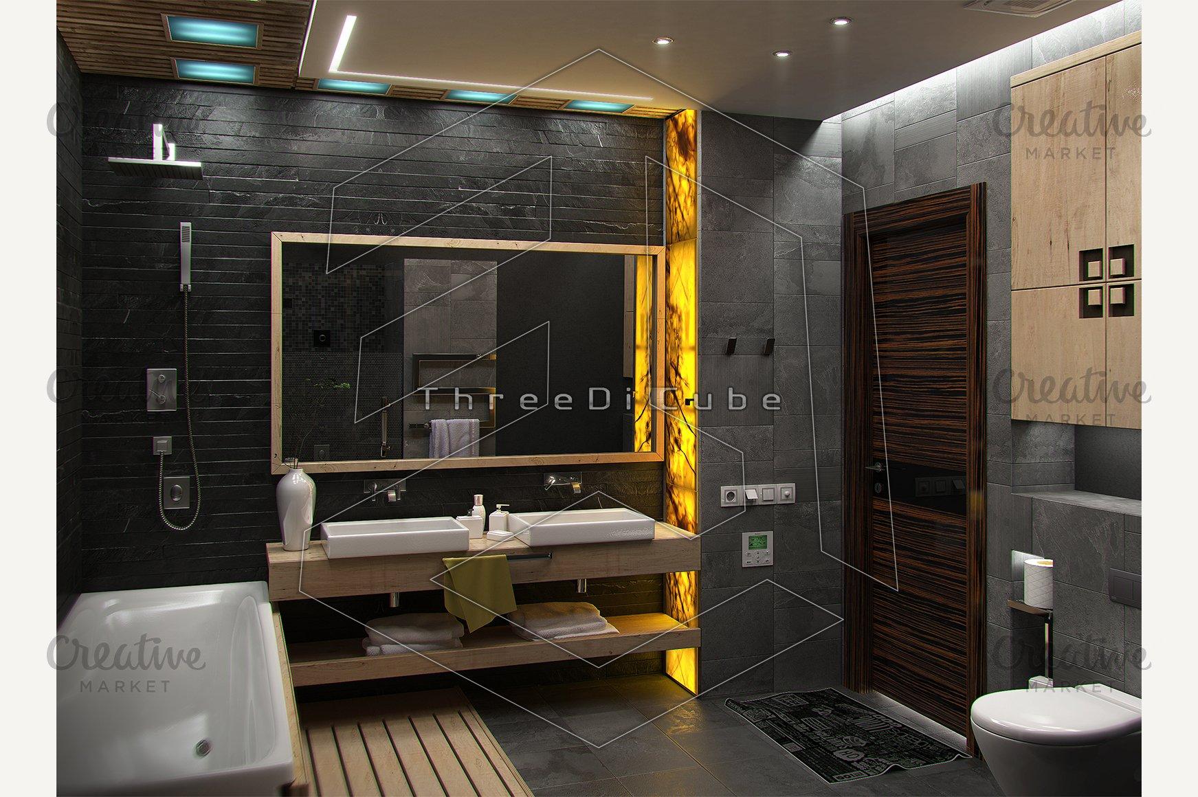 Bathroom Minimalist Interior Design Custom Designed Illustrations Creative Market,Home Decorators Collectors