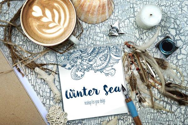 Winter Sea: Boho Style PSDMockup —…