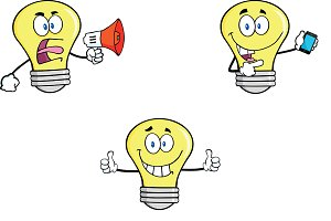 Yellow Light Bulbs Collection - 9
