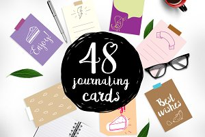 48 journaling cards set