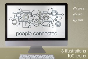 People connected