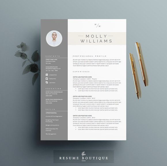 resume template 4 pages minerva resumes