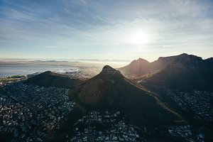 Aerial view of cape town city