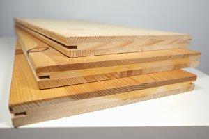 Wood planks on table