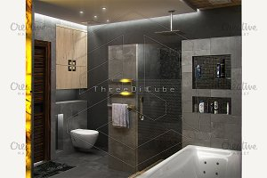 Bathroom minimalist interior design