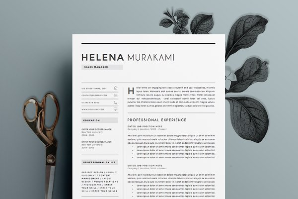 Resume Template 4 pages   Simplifie…