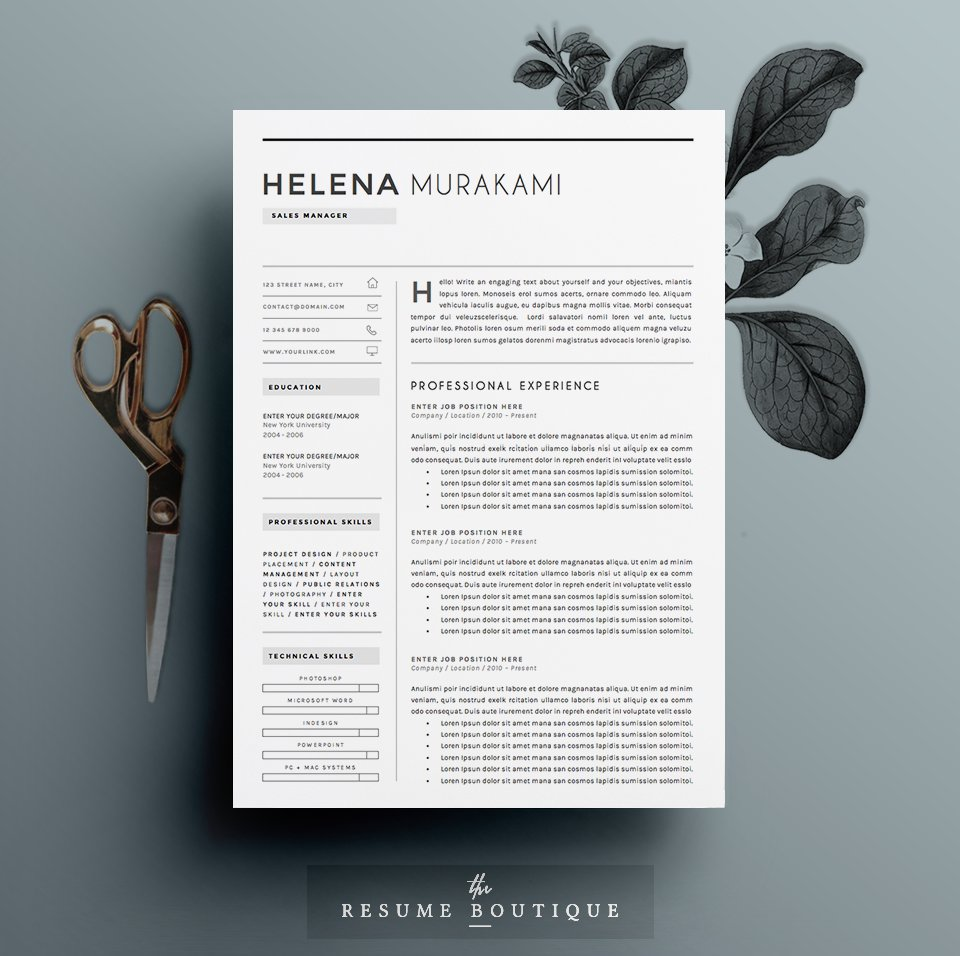 Resume Template 4 Pages Simplifier Resume Templates Creative