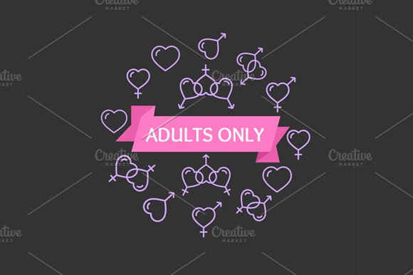 Adults Only Sign. Vector - Illustrations