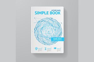 Book Template. Vector