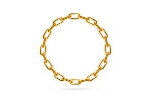 Chain Frame Round. Vector