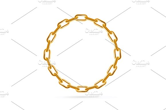 Chain Frame Round. Vector - Illustrations