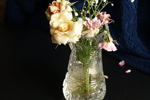 bouquet with dried roses