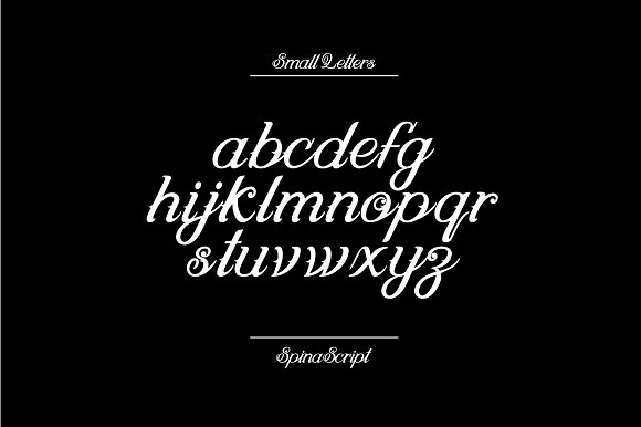 SPINA Script in Script Fonts - product preview 3