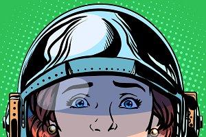 sadness Emoji face woman astronaut