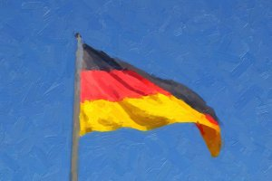 German flag oil paint