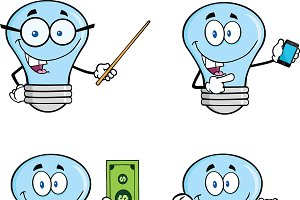 Blue Light Bulbs Collection - 3