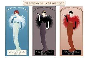 Elegant Women Vintage Style