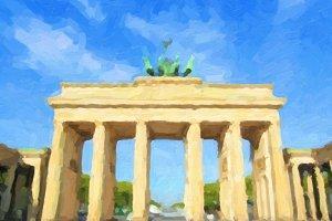 Brandenburger Tor, Berlin oil paint