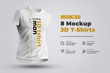8 Mockups 3D T-Shirts by  in Mockups