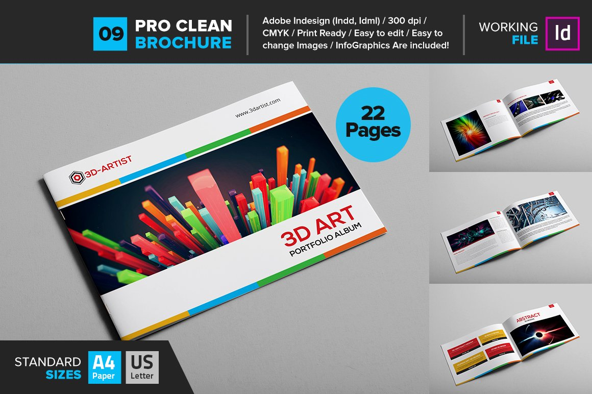 Clean Brochure Template 09 Brochure Templates Creative Market