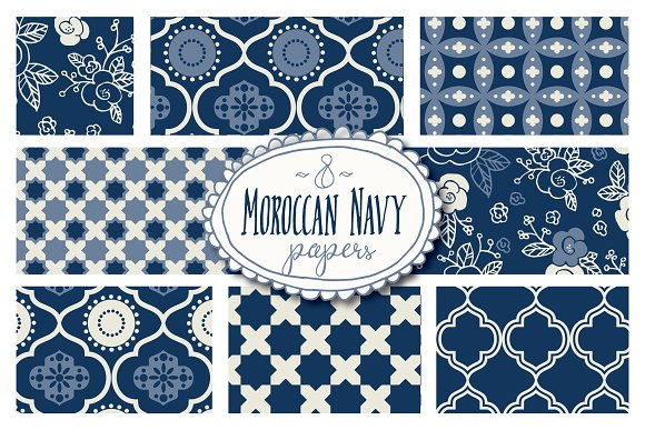 Moroccan Seamless Patterns Vector Graphic Patterns Creative Market