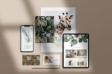 Modern Tropical Watercolour and Gold by  in Graphics