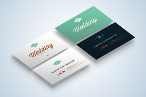 Wedding Business Cards Mock-Up