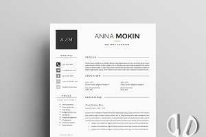 Resume Template 5 page pack | Smoke